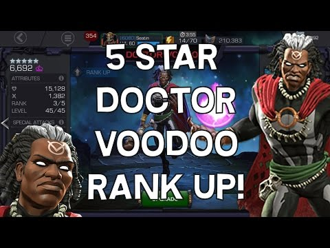 5 Star Doctor Voodoo Rank Up and Gameplay - Marvel Contest Of Champions