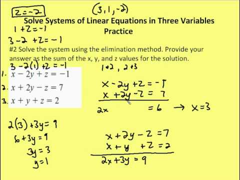3.4 Solve Systems of Linear Equations in Three Variables ...