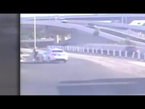 Surveillance video captures Walmart security guard allegedly mow over bicyclist