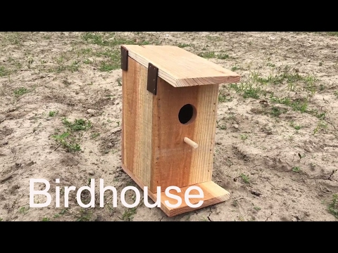 How to build a birdhouse with one board