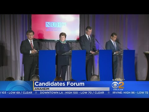 Democratic Candidates For Calif. Governor Debate In Anaheim