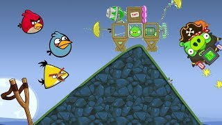 Bad Piggies - LEVEL 28 TROLLING ANGRY BIRDS AND GOT HIT IN MOUNTAIN