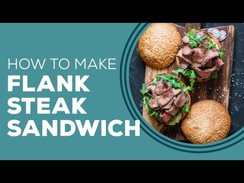 Marinated Flank Steak Sandwich - Blast from the past.
