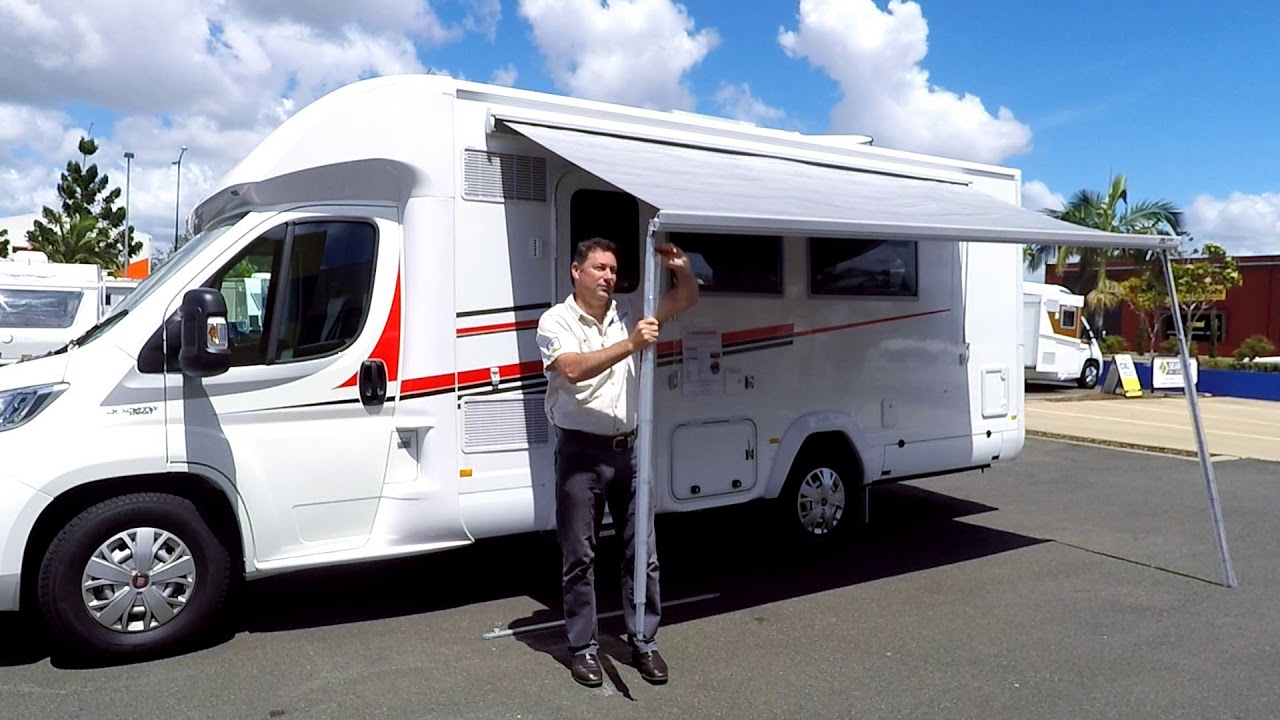 How To Wind Out You Dometic Fiamma Awning Out Youtube
