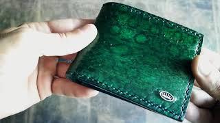 видео кожаные кошельки ручной работы