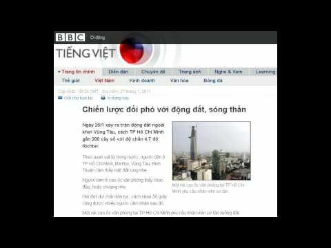 27-01-2011 - BBC Vietnamese - Chiến lược đối phó với động đất, sóng thần