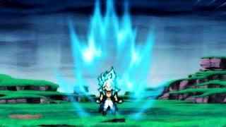 Sprite Animation: Brogeto super saiyan blue