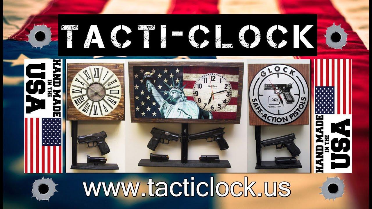 TactiClock Concealment Wall Clock Gun Safe NONLOCKING YouTube