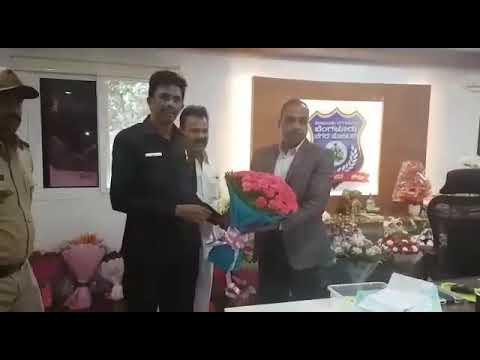 Bangalore Police Commissioner Mr.T.Sunil Kumar IPS, Head Chat With Apmc Fruits Mandi SMT-BABU