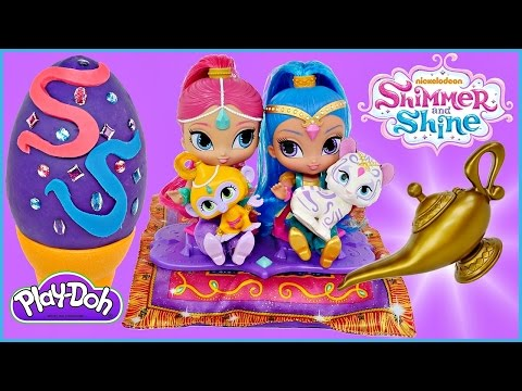 Shimmer and Shine Magic Carpet Play Doh Surprise Egg & Surprise Magic Lamp Nickelodeon