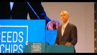 Look What Obama Accidentally Left Behind at Climate Change Speech