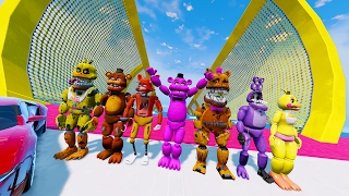 animatronics stunt on worlds biggest ramp ever gta 5 mods for kids fnaf funny moments