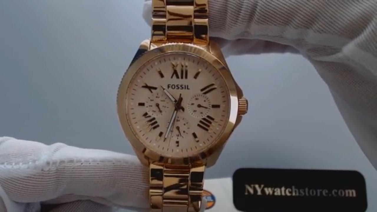 women 39 s rose gold fossil cecile multifunction steel watch. Black Bedroom Furniture Sets. Home Design Ideas