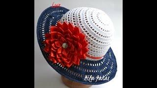 """Вяжем летнюю шляпку для леди """"Морские грезы"""""""