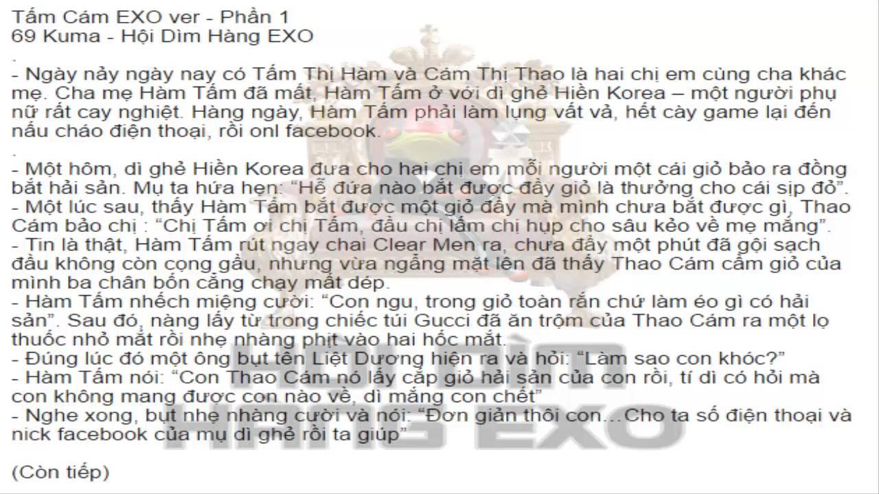 [Kể Truyện] Tấm Cám EXO Ver (Phần 1)