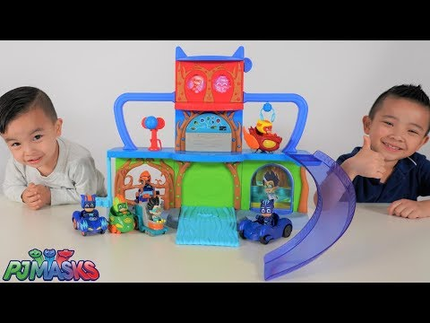 PJ MASKS New Headquarters Playset Unboxing Playtime With Ckn Toys