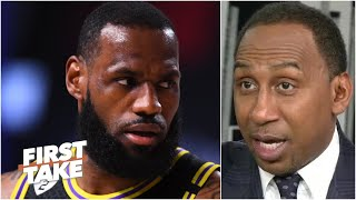 Stephen A.'s message to LeBron: You might not win Finals MVP over Anthony Davis | First Take