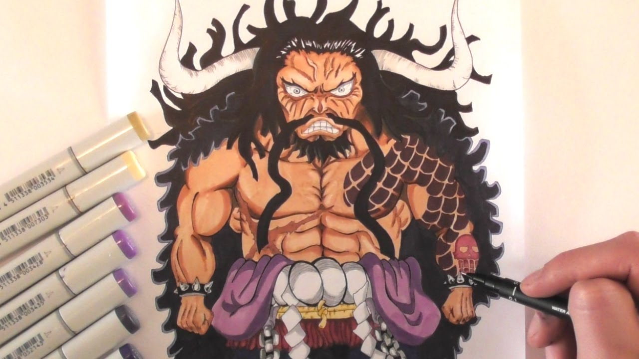 ONE PIECE, Drawing KAIDO Super Deformed! - YouTube
