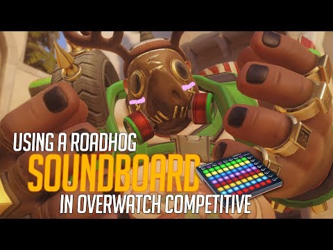 Using a Roadhog Soundboard in Overwatch Competitive! (Overwatch Trolling)