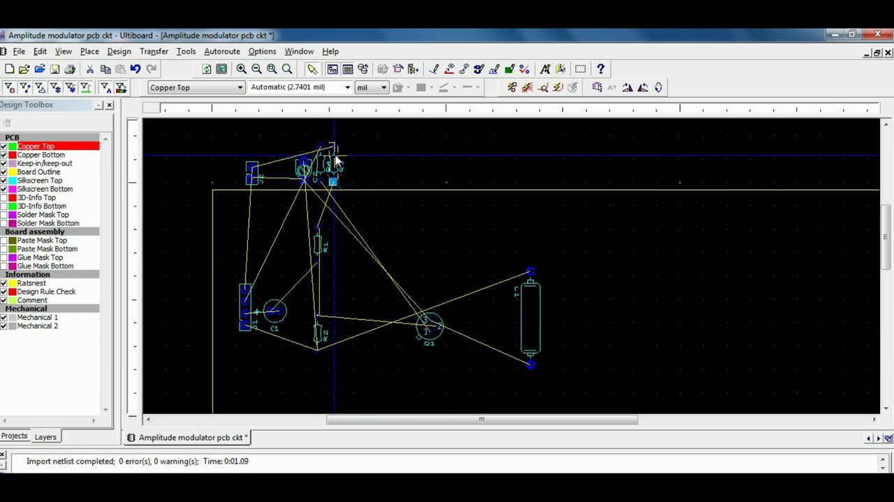 Pcb Design For Amplitude Modulation Using Multisim Software Youtube Circuit Simulation And With Tina