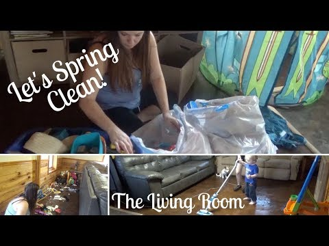 SPRING CLEANING 2018 | Decluttering and Cleaning the Entire Living Room