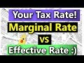 What Is My tax Rate? (Marginal Tax vs Effective Tax Explained) (Federal Income Tax Rates Explained)