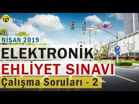 NİSAN 2019 ELEKTRONİK Ehliyet Sınav SORULARI ve CEVAPLARI - 2