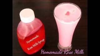 Homemade Rose Milk Syrup