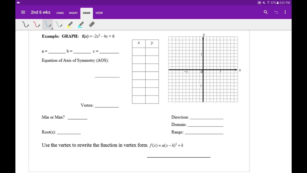 Graphing quadratic equations in standard form ex 3 youtube graphing quadratic equations in standard form ex 3 falaconquin