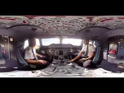Thumbnail: 360° Cockpit tour of Emirates Airbus A380 | Emirates Airline