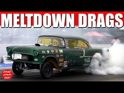 Old School Gasser Drag Racing Meltdown Drags Byron Dragway 2017