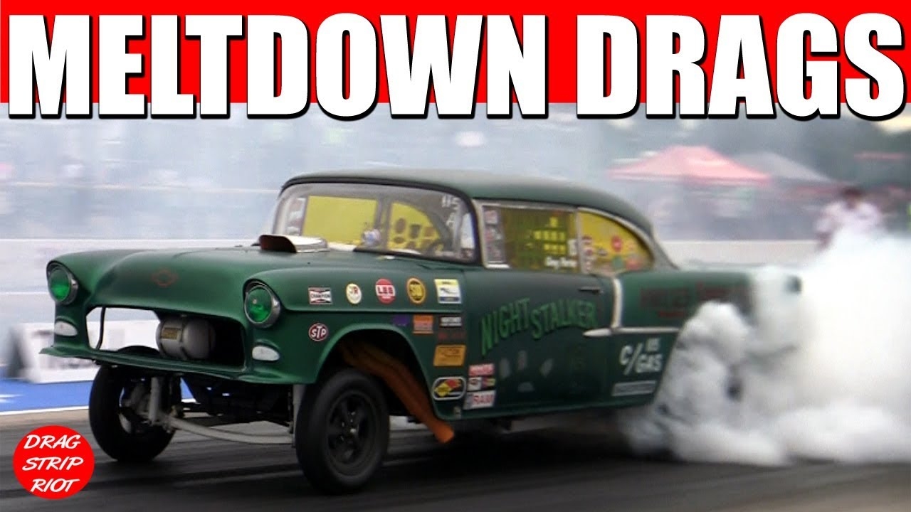2017 Meltdown Drags Old School Gasser 1/4 Mile Drag Racing Cars ...