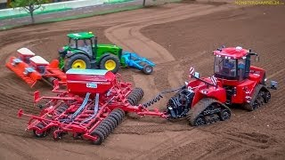 RC Tractors John Deere, Case and Fendt at work! Siku Farmland in Neumünster, Germany. thumbnail
