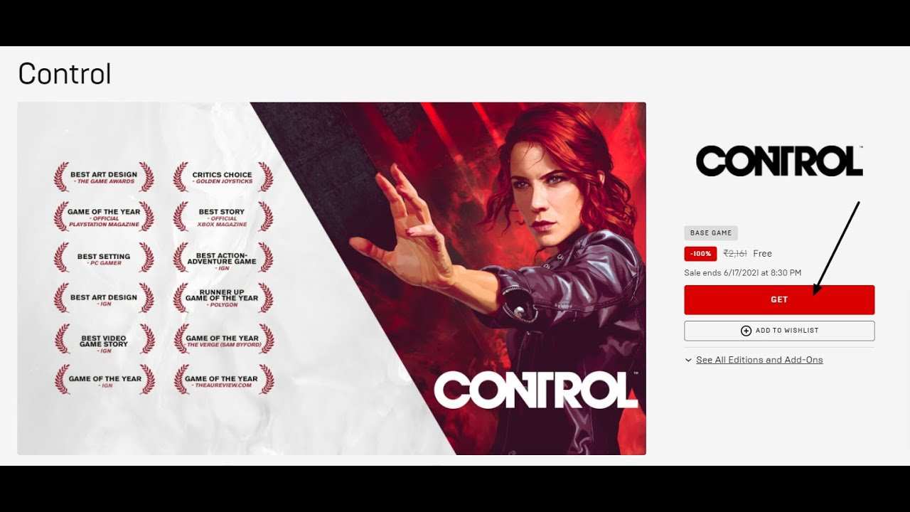 Control is free on the Epic Games Store, but only for a limited time