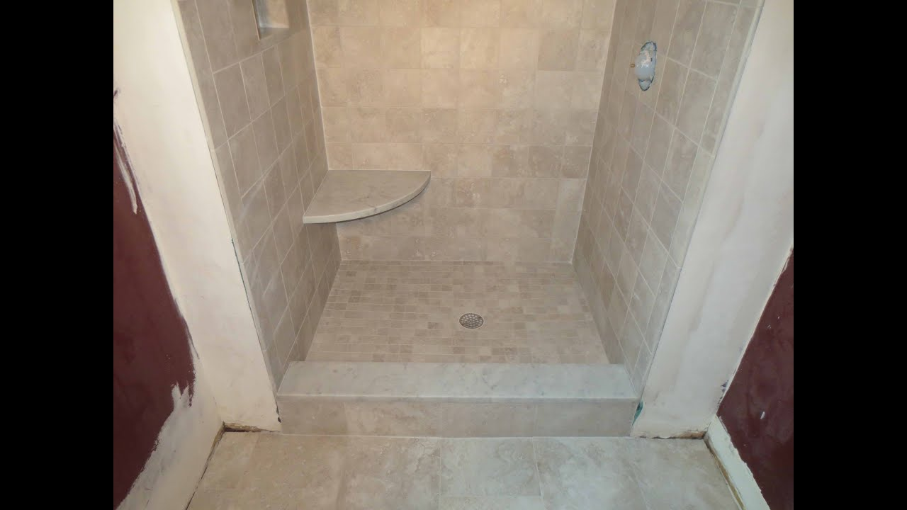 Complete tile shower install - YouTube