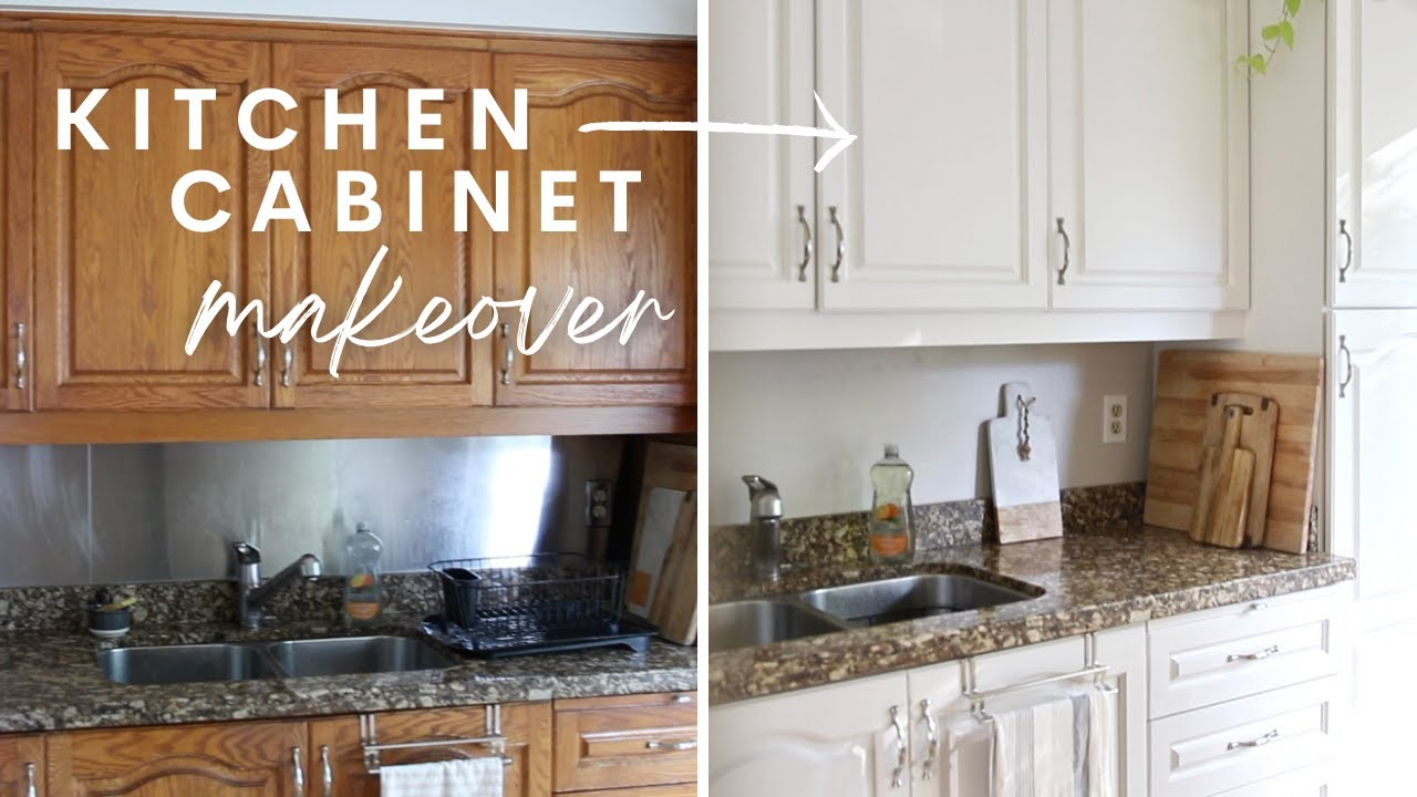 DIY KITCHEN MAKEOVER | Painted Kitchen Cabinets | Before & After