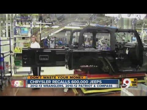 Chrysler recalls 600,000 jeeps