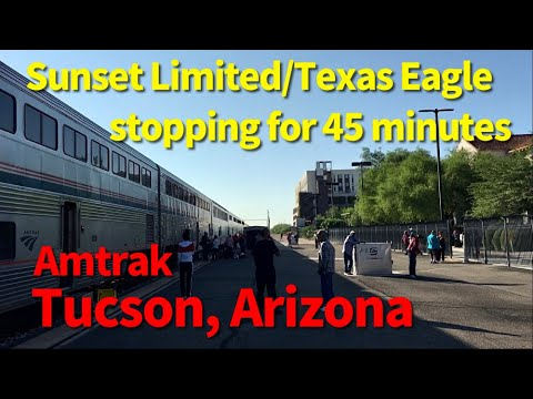 Amtrak train stopping for a long time, Tucson Arizona