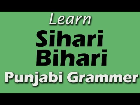 Learn Punjabi Sihari Bihari | Punjabi Grammar | Punjabi Gurmukhi | Fun Learning Video