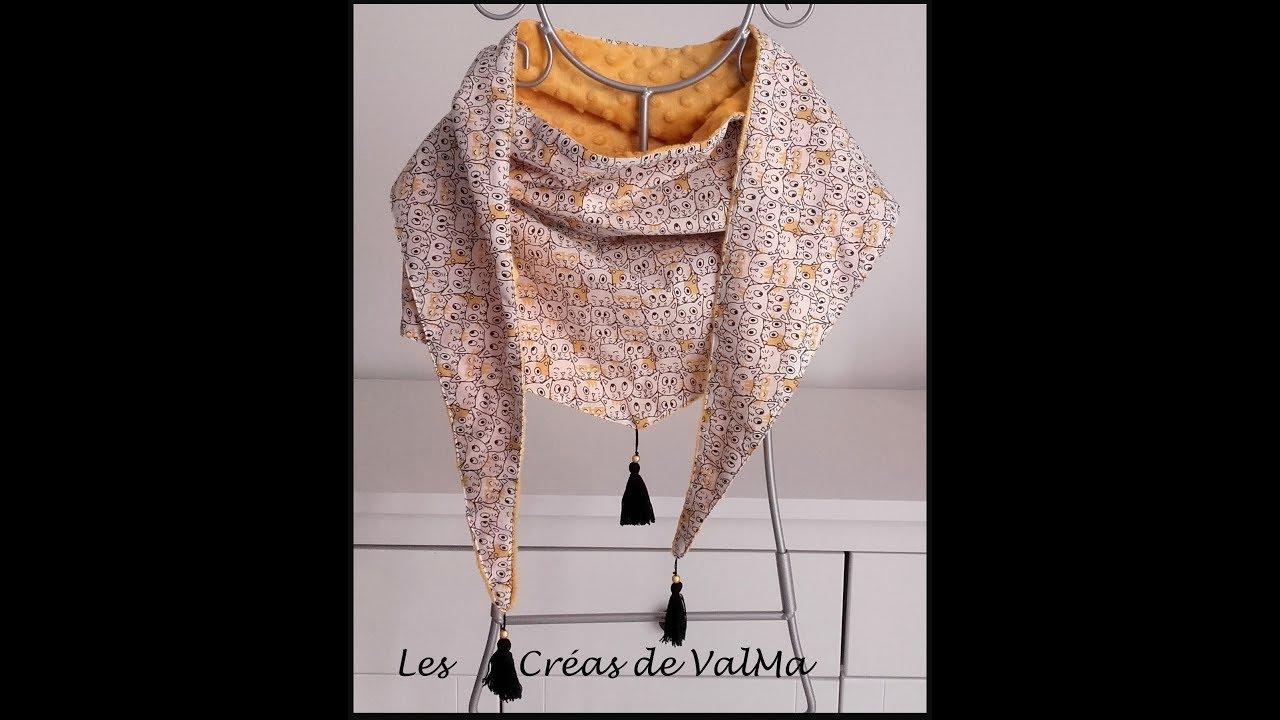 100% quality promo codes delicate colors Chèche - écharpe en triangle - Tuto couture ValMa