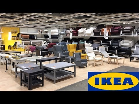 IKEA ARMCHAIRS CHAIRS COFFEE TABLES FURNITURE HOME DECOR SHOP WITH ME SHOPPING STORE WALK THROUGH 4K