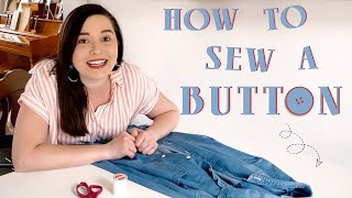 How to Sew on A Button | Quick & Easy for BEGINNERS | Southern Living