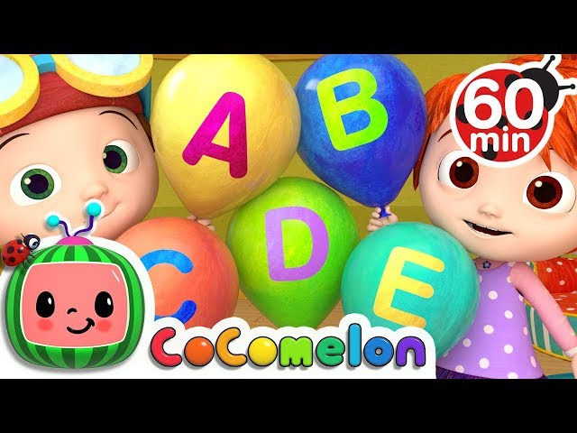 ABC Song with Balloons   +More Nursery Rhymes & Kids Songs - Cocomelon (ABCkidTV)