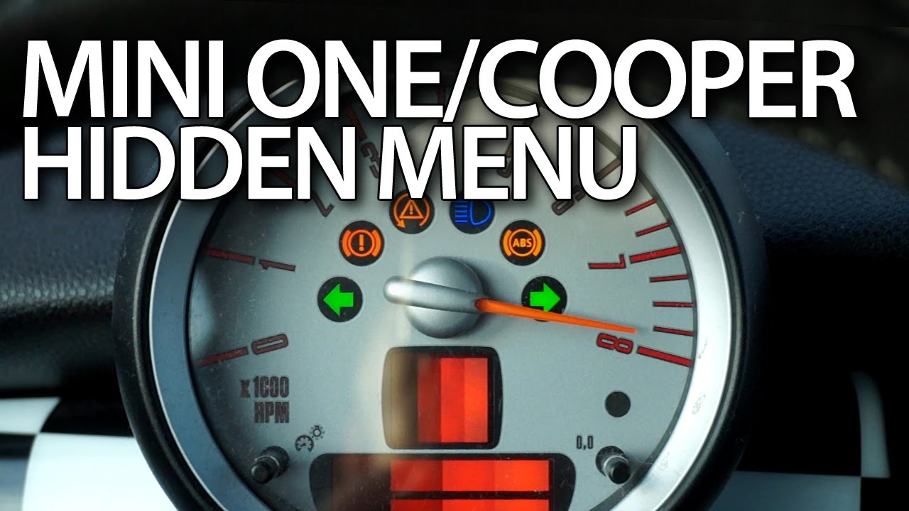 How To Enter Hidden Menu In Mini R56 One Mini Cooper Mk2 Mini