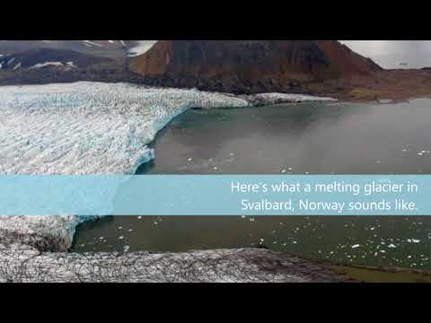 Sounds of melting glaciers could reveal how fast they shrink