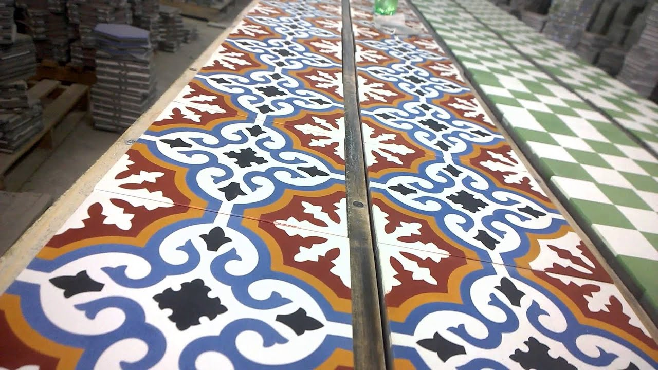 Decorative Cement Tile - iroiya.com - YouTube
