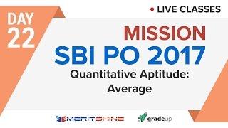 Quantitative Aptitude: Average | SBI PO 2017 Online Classes