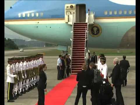 Presiden Obama tiba di Malaysia - raw feed