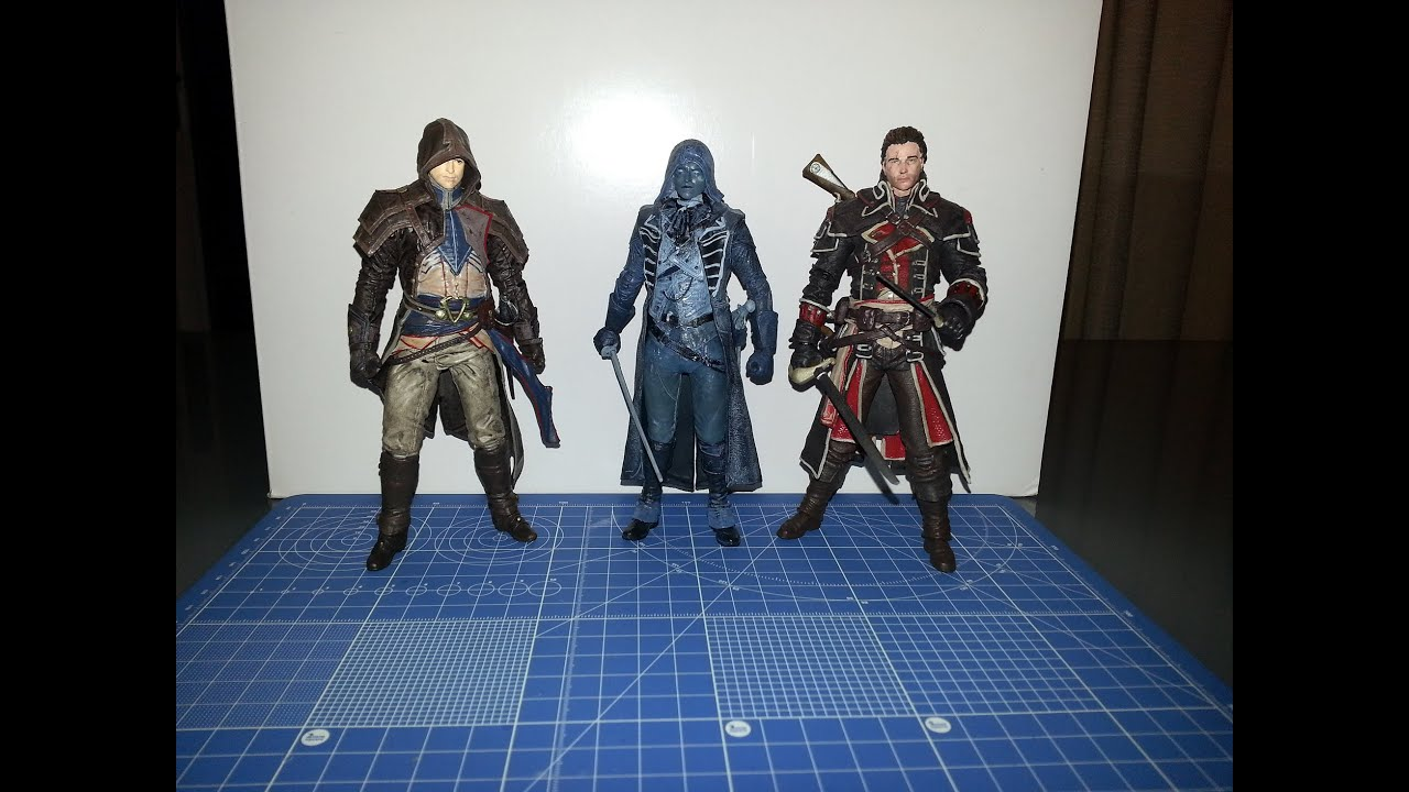 Assassin S Creed Series 4 Mcfarlane Master Assassin Arno Dorian Shay Cormack Eagle Vision Arno Youtube
