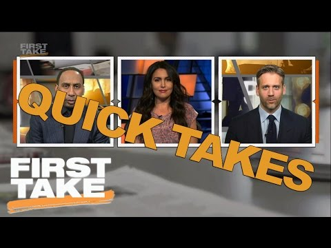 Quick Takes On NBA Playoffs, Dirk & Aaron Rodgers | First Take | April 14, 2017